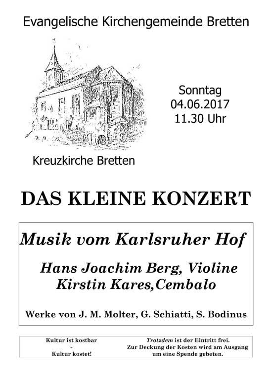 Plakat zum Konzert mit Kares und Berg